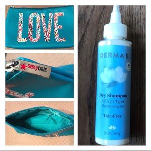 Derma e Dry Shampoo and Sexy Hair Cosmetics Bag